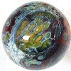 flameworked glass marble