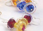 Click on this photo to see more Jetson glass earrings from GlassPens.com